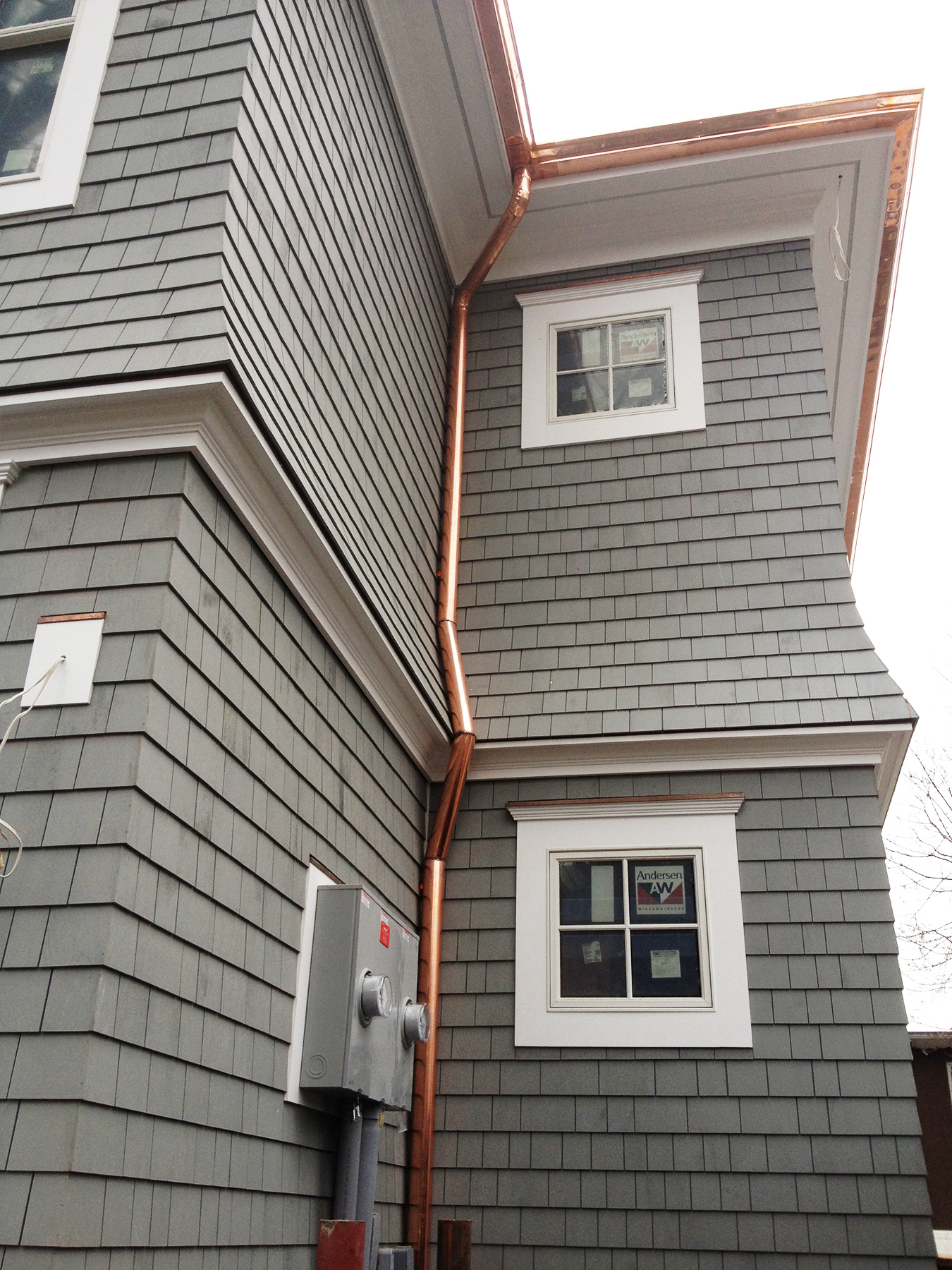 How to install a downspout in a gutter - Copper Gutter And Downspout Installation Greenwich Ct