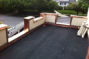New Flat Roof - Copper Flashing - White Plains New York