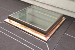 Flat Roof Repair - Copper Flashing