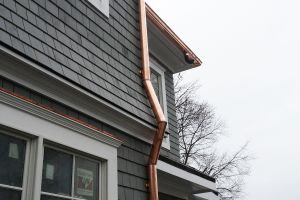 Copper Gutter and Downspout Installation - Greenwich CT