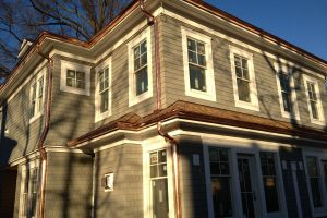 New Custom Built Home - Copper Gutters - Azek Trim - Maibec Siding - Greenwich CT